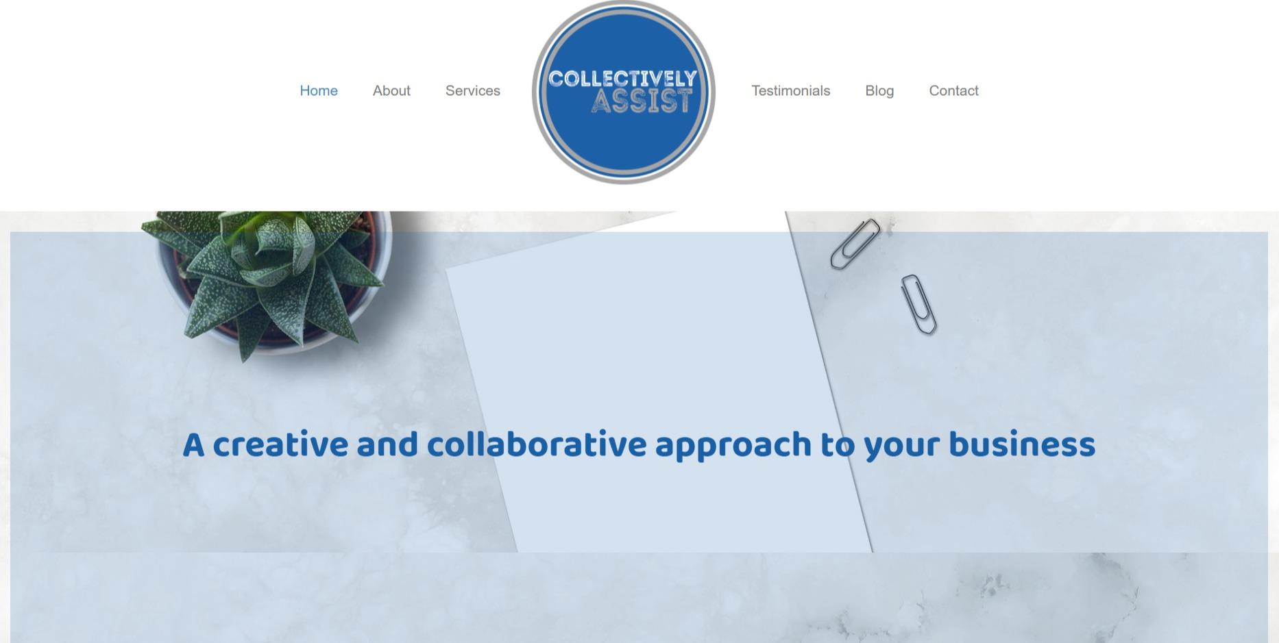 portfolio pic of new website desktop and paper clips