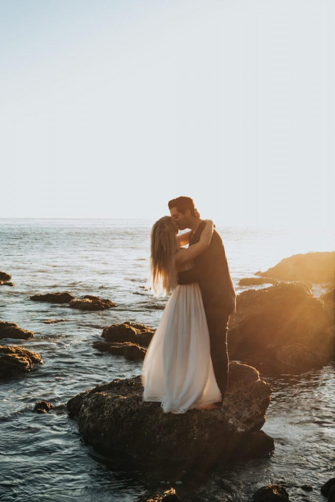 wedding by the ocean