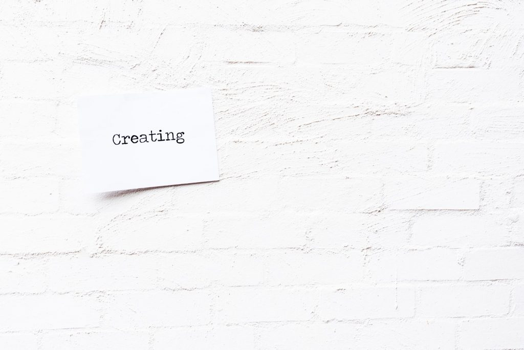 Creating typed onto brick wall background
